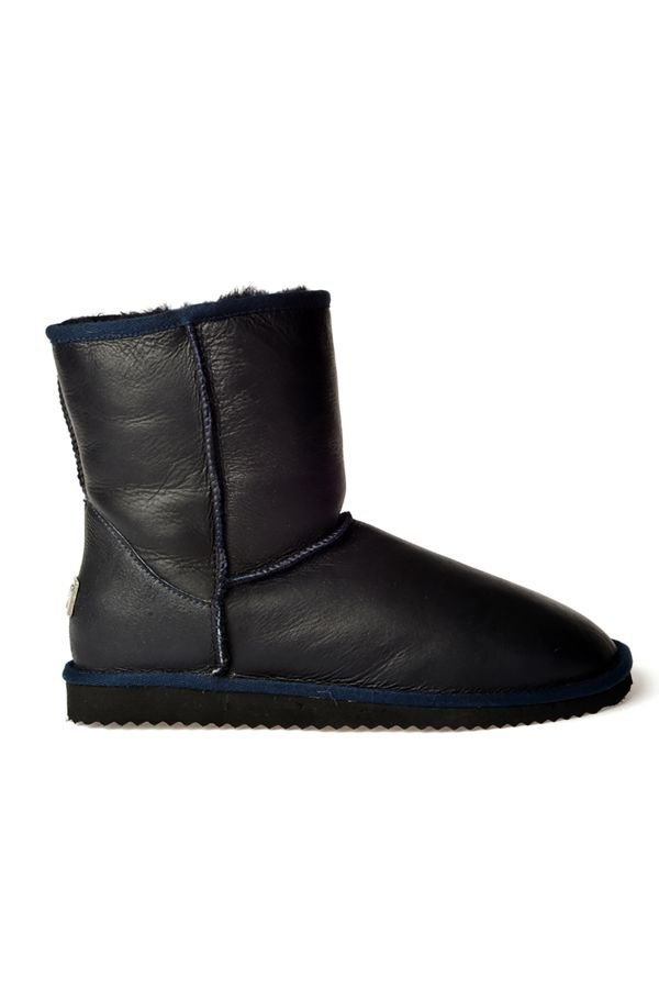 Pegia Classic Men Uggs From Genuine Fur Navy blue
