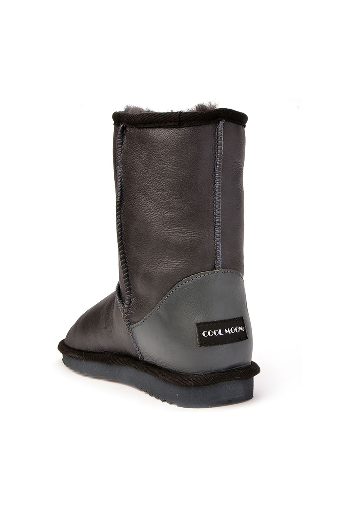 Cool Moon Classic Women Uggs From Genuine Leather Gray
