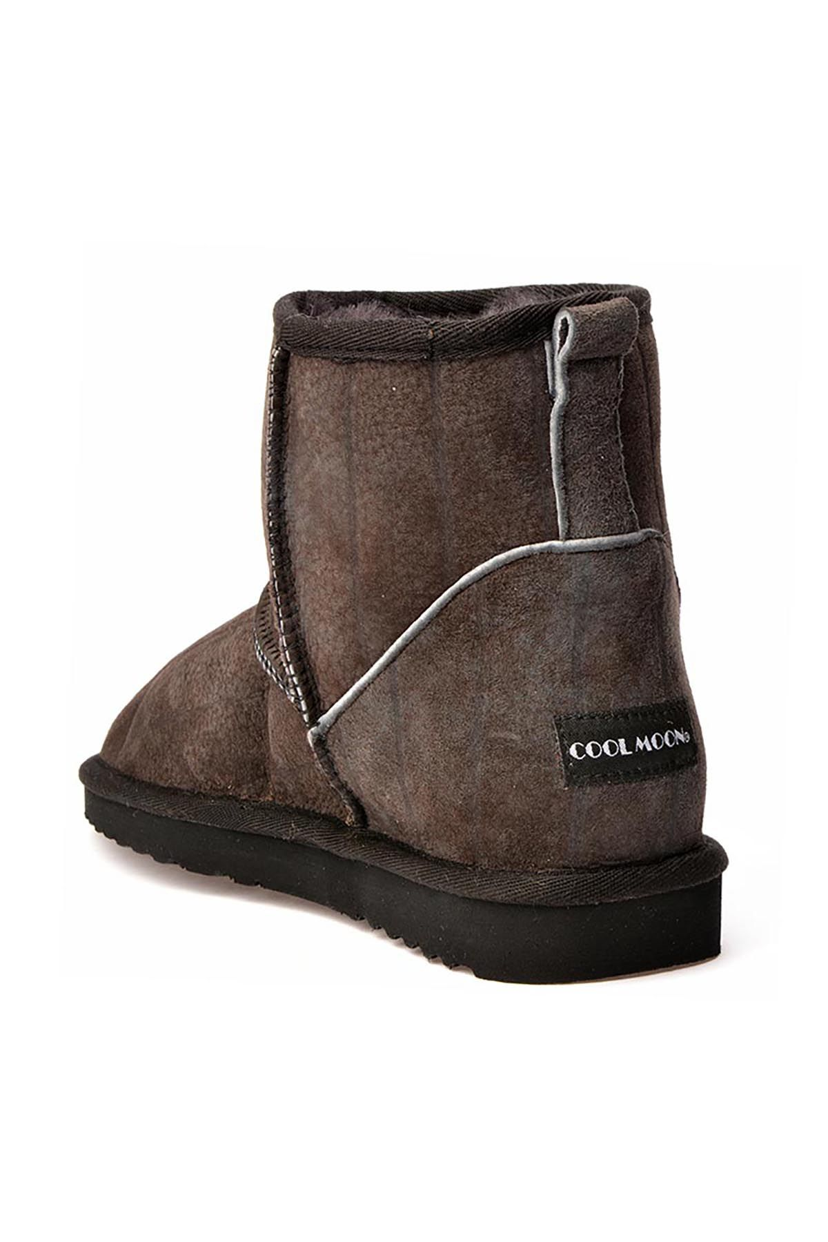 Cool Moon Women Uggs From Genuine Fur With Stripes Pattern Gray