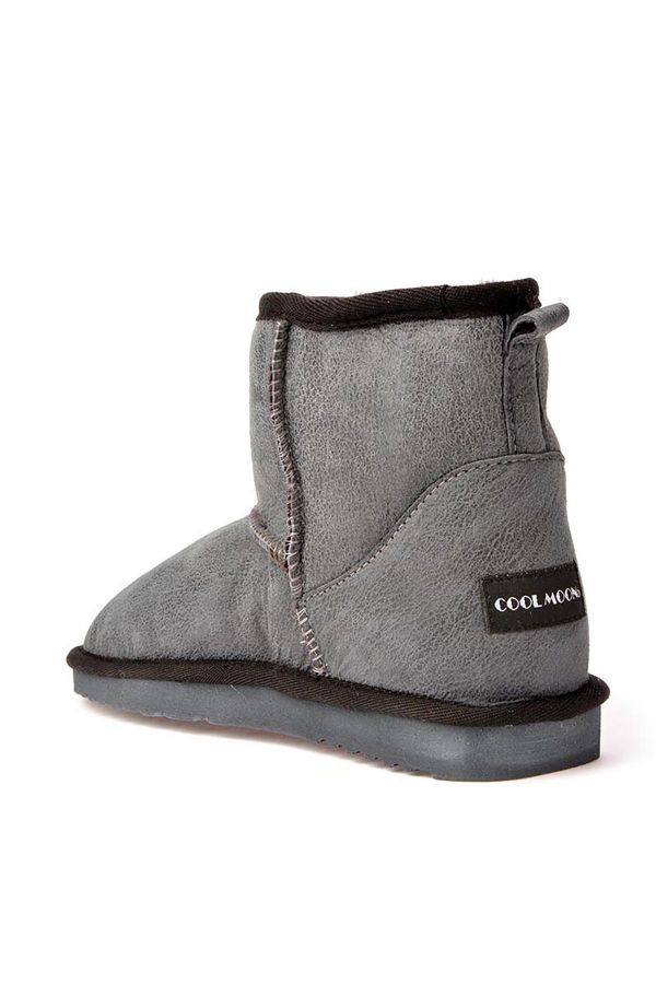 Cool Moon Patterned Women Uggs From Genuine Fur Gray