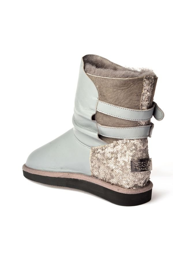 Pegia Women Uggs From Genuine Fur Gray