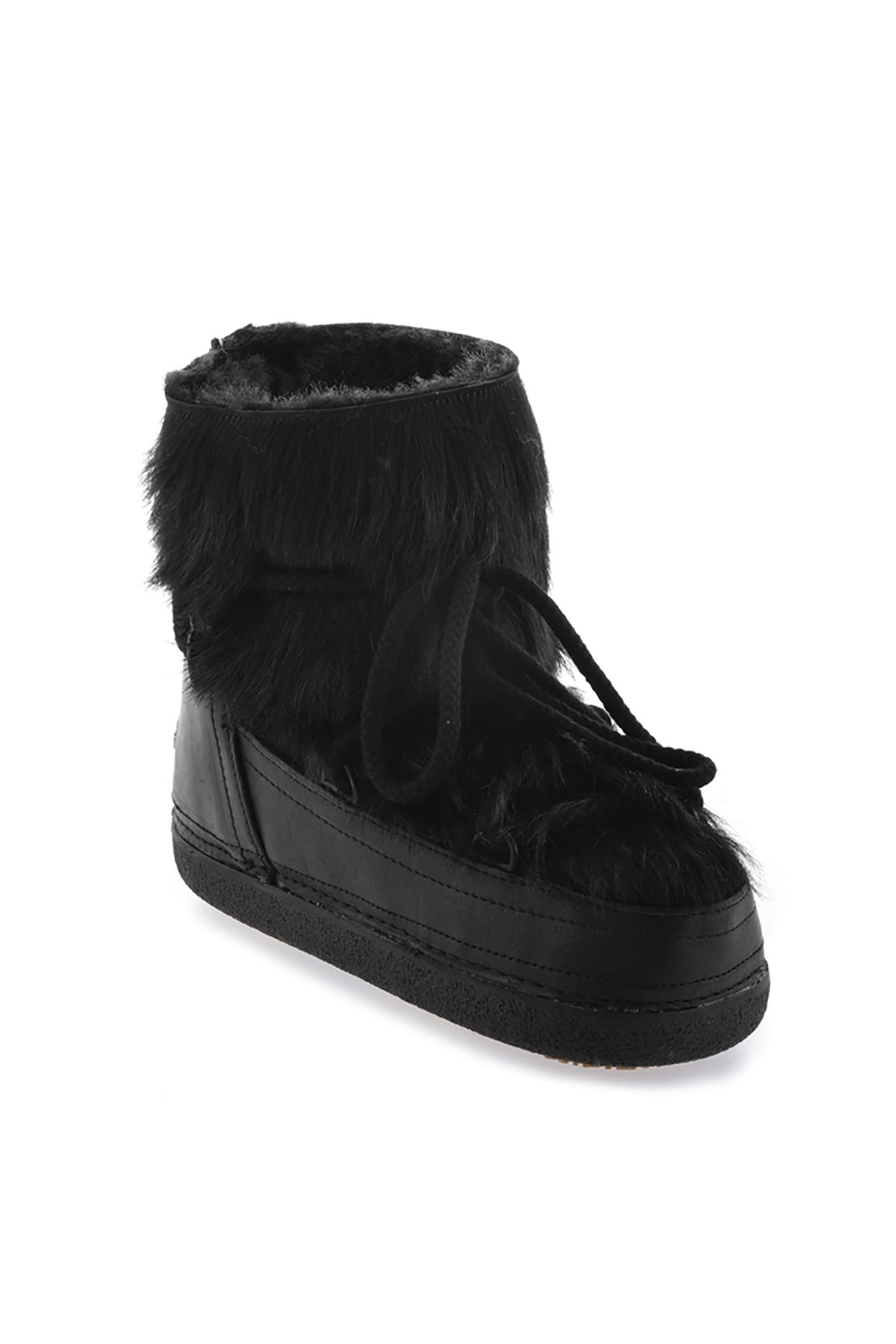 Cool Moon Women Snowboots From Genuine Fur Black