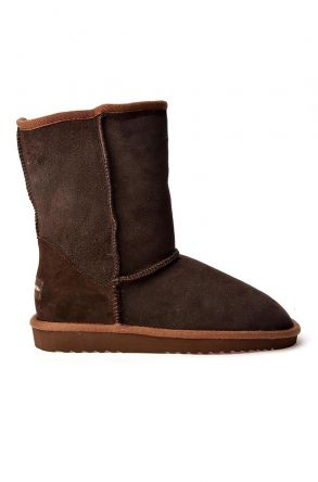 Cool Moon Classic Women Uggs From Genuine Suede Brown