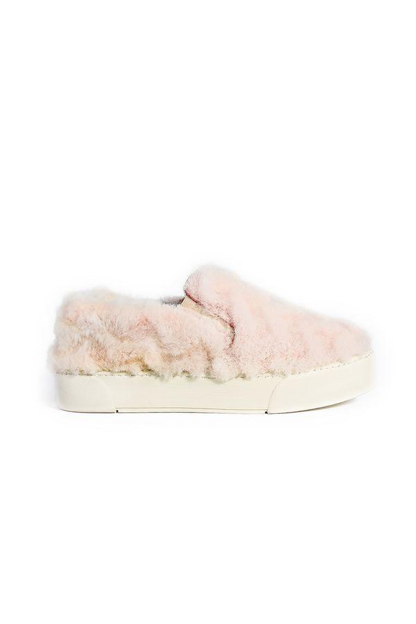 Pegia Women Sneakers From Genuine Fur Powdery
