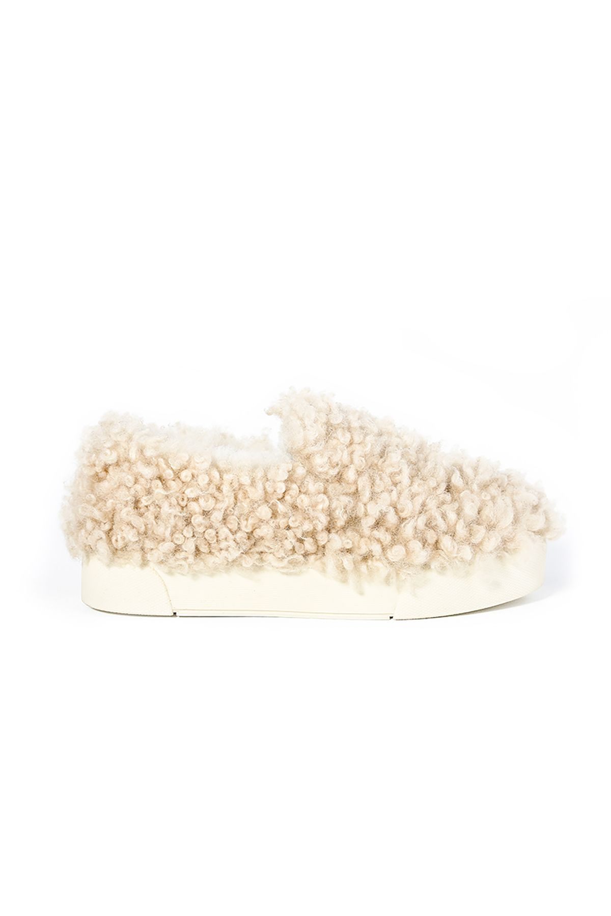 Pegia Women Sneakers From Genuine Fur Beige