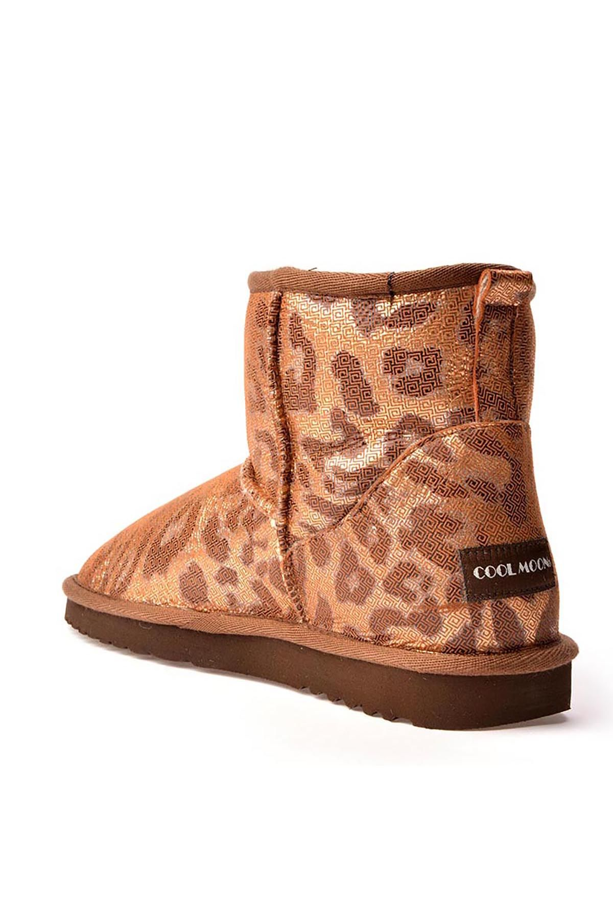 Cool Moon Women Uggs From Genuine Fur With Snake Pattern Bronze