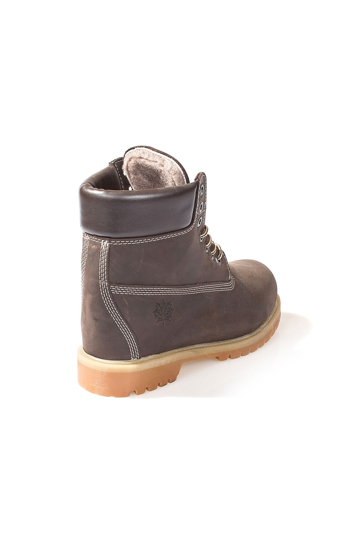 Pegia Women Boots From Genuine Fur And Nubuck Brown