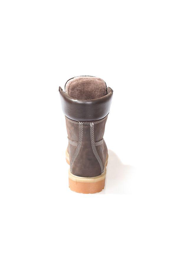 Pegia Hakiki Nubuk İçi Kürklü Kadın Bot  Kahve