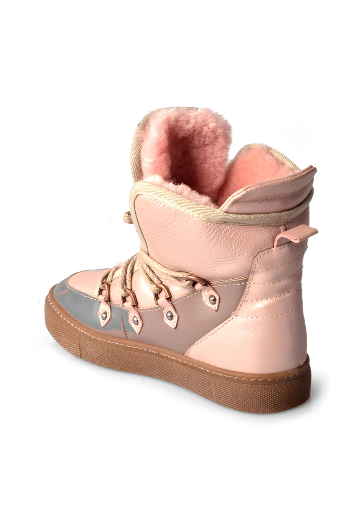 Pegia Women Boots From Genuine Fur Pink