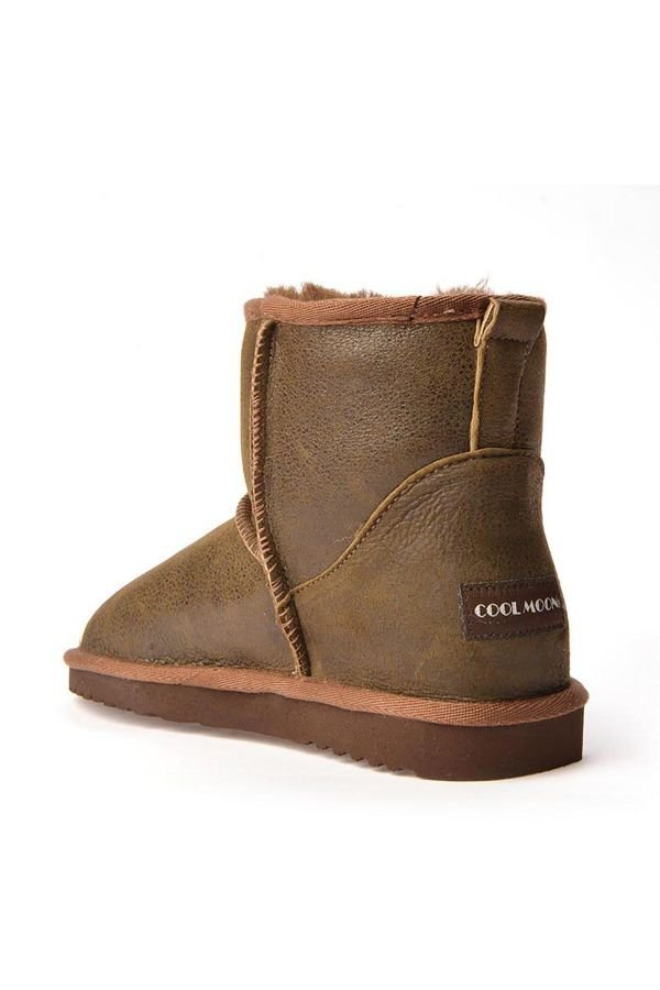 Cool Moon Women Uggs From Genuine Fur Khaki