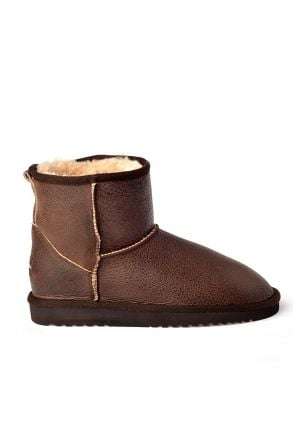 Cool Moon Women Ugg Style Boots From Genuine Fur Brown