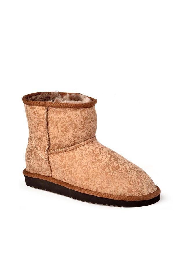 Cool Moon Patterned Women Uggs From Genuine Fur Mink