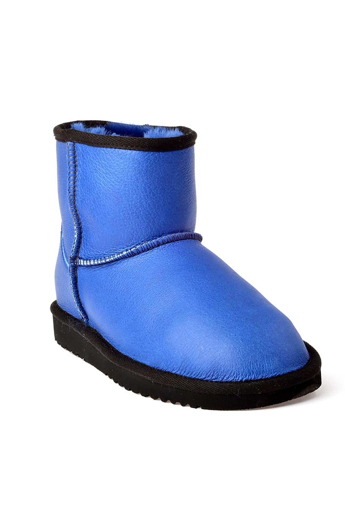 Cool Moon Women Uggs From Genuine Fur Blue