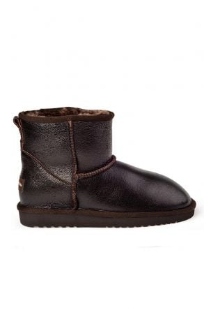 Cool Moon Bright Women Uggs From Genuine Fur Brown