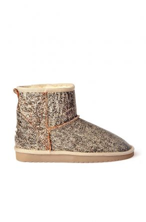Cool Moon Women Uggs From Genuine Fur Beige