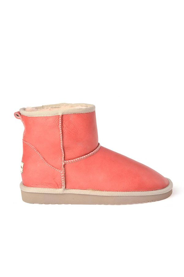 Cool Moon Women Uggs From Genuine Fur Pomegranate