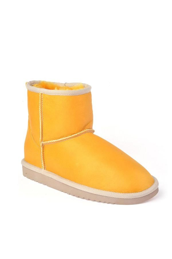 Cool Moon Women Uggs From Genuine Fur Yellow