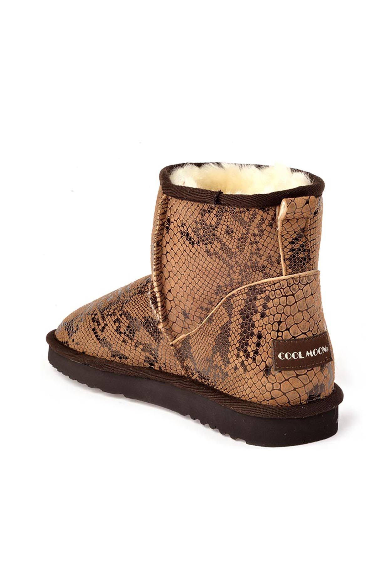 Cool Moon Women Uggs From Genuine Fur With Snake Pattern Mink