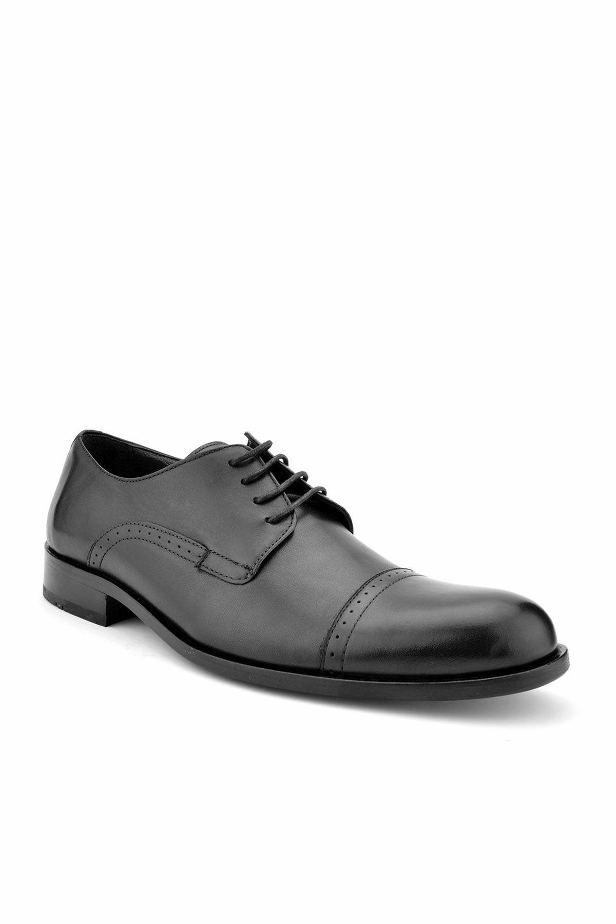 Koza Мужские Туфли Из Натуральной Кожи С Каблуком  Черный