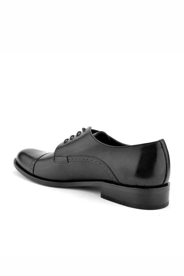 Koza Hakiki Deri Kösele Erkek Ayakkabı  Siyah