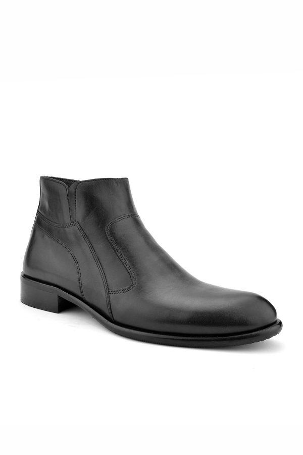 Koza Мужские Туфли Из Натуральной Кожи С Молнией  Черный