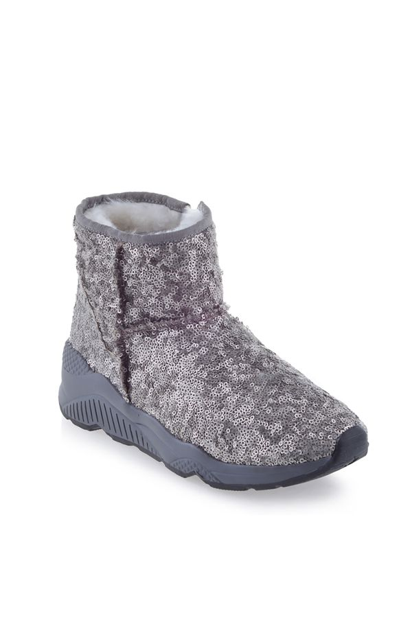 Pegia Women Boots From Genuine Suede And Fur With Side Zip Mink