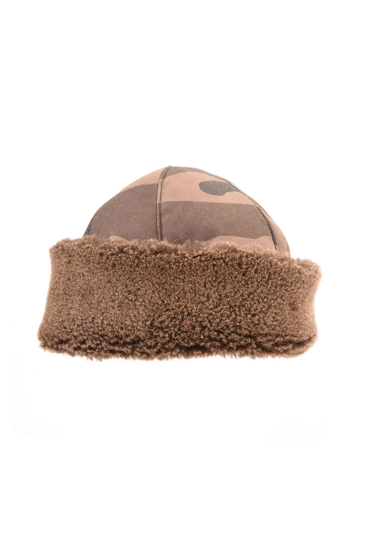 Pegia İçi Hakiki Kürk Kamuflaj Diriliş Şapka 18AS10 Haki