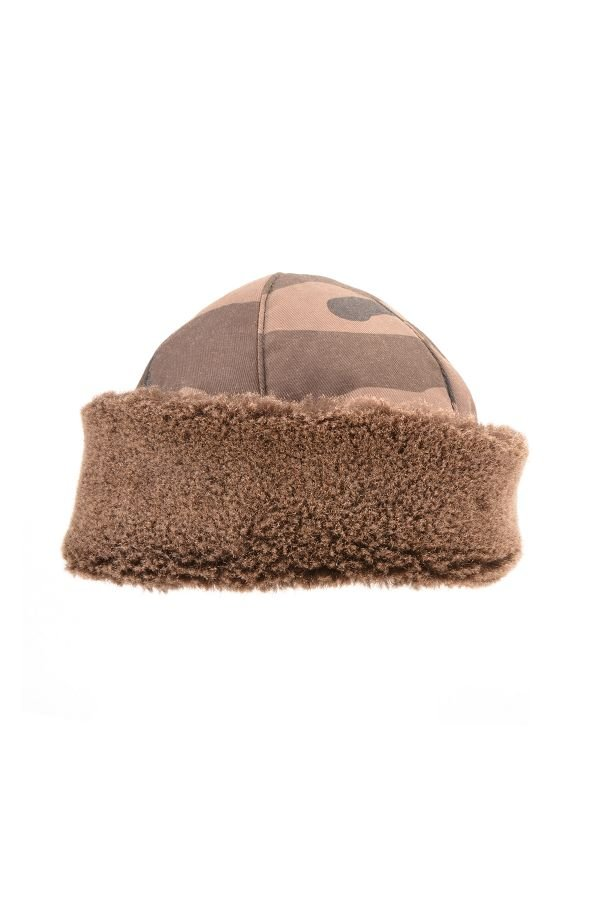 Pegia Ottoman Hat From Genuine Fur With Camouflage Pattern Khaki