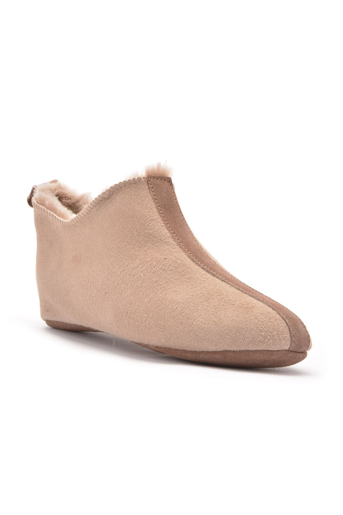 Pegia Women House-shoes From Genuine Fur Sand-colored