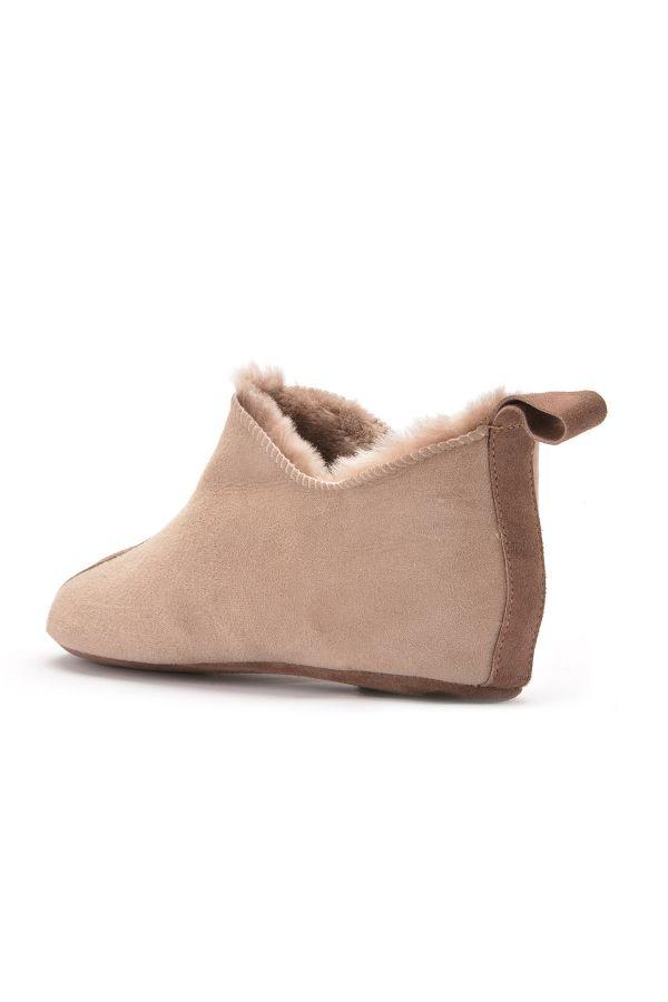 Pegia Женская Домашняя Обувь Из Натурального Меха Песочный
