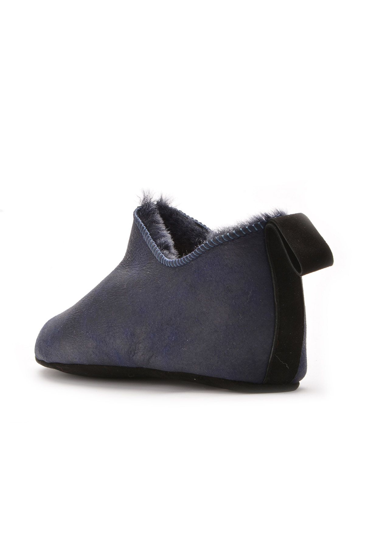 Pegia Женская Домашняя Обувь Из Натурального Меха Темно-синий