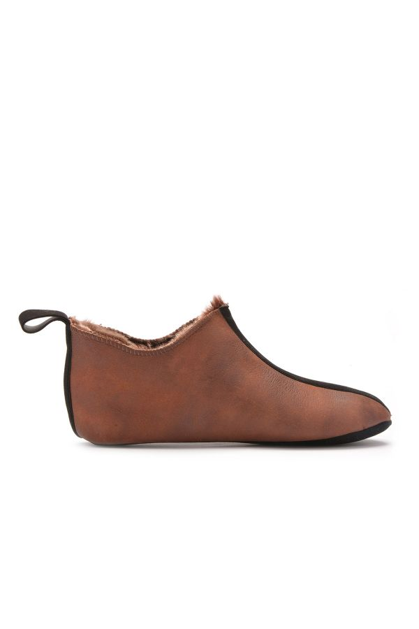 Pegia Women House-shoes From Genuine Fur Dark Brown