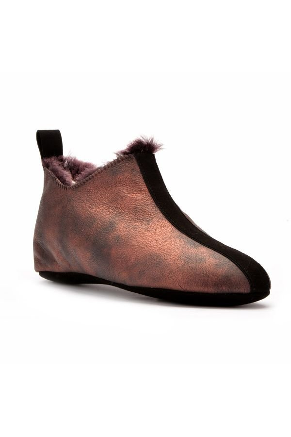 Pegia Women House-shoes From Genuine Fur Claret red