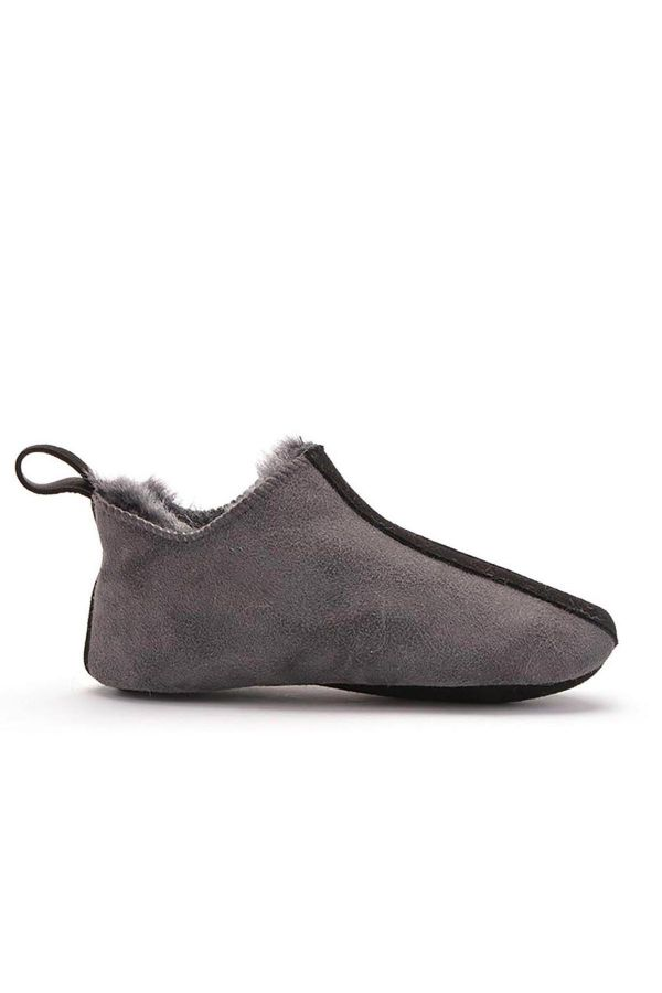 Pegia Women House-shoes From Genuine Fur Gray