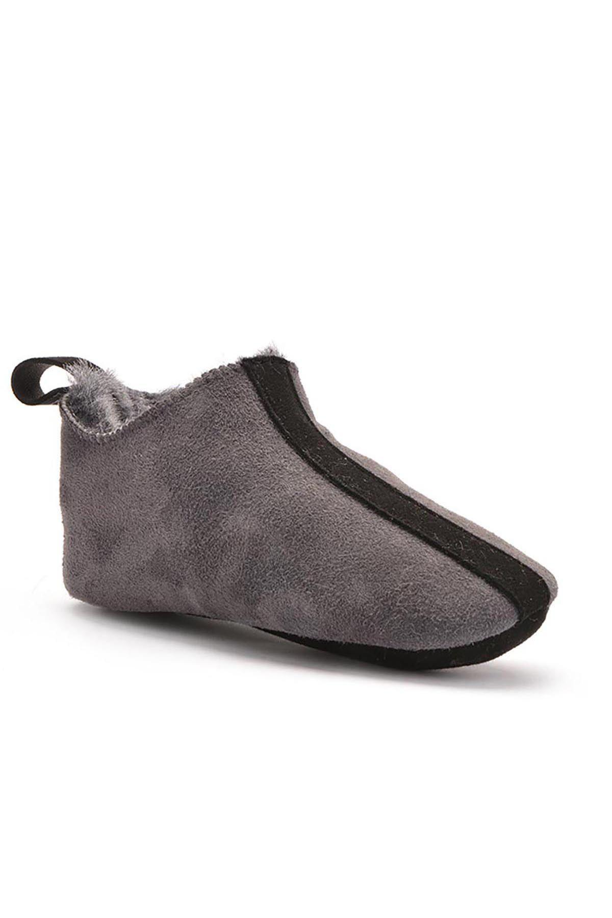 Pegia Женская Домашняя Обувь Из Натурального Меха Серый