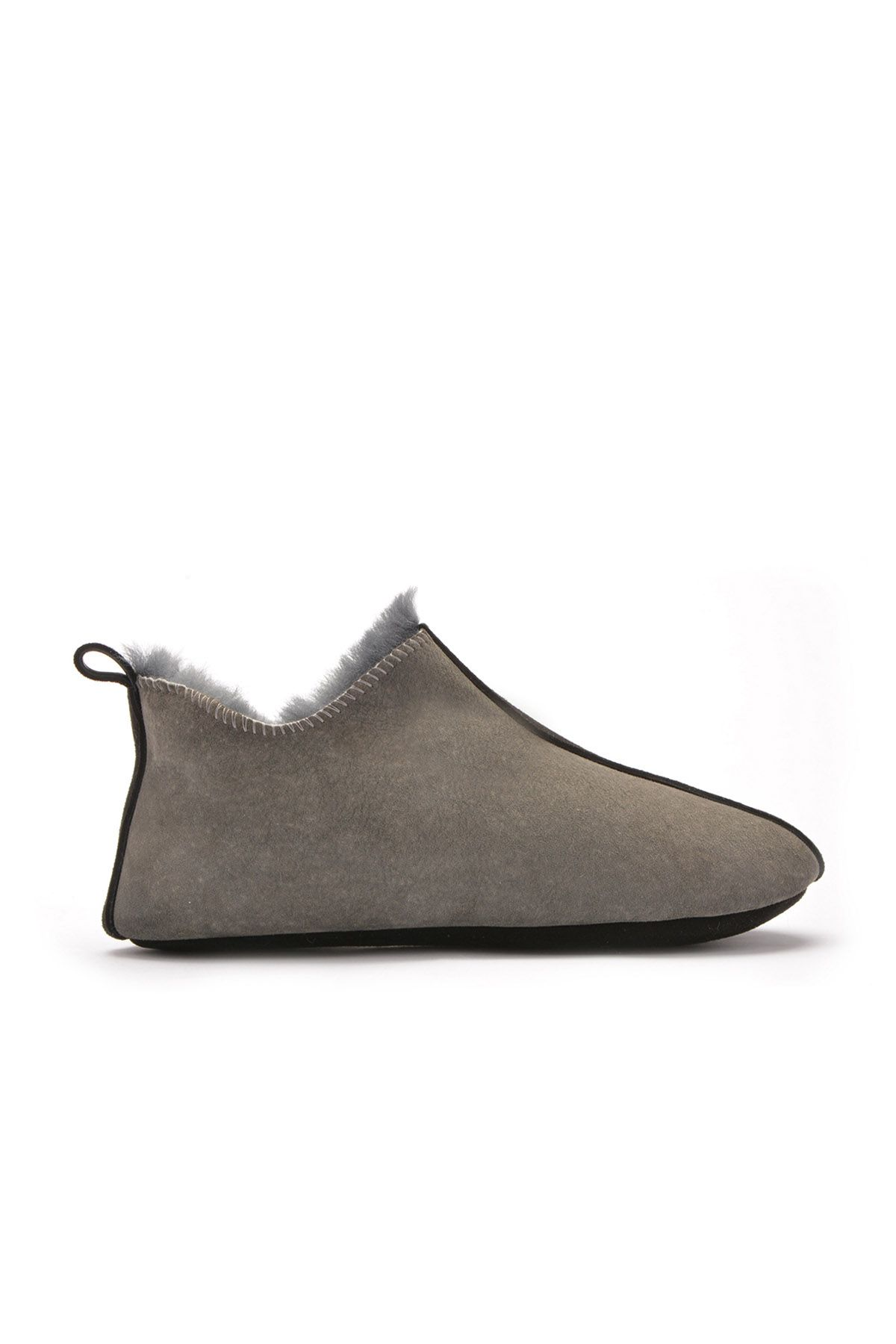 Pegia Women House-shoes From Genuine Fur Dark Gray