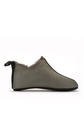 Pegia Men House-Shoes From Genuine Fur Khaki