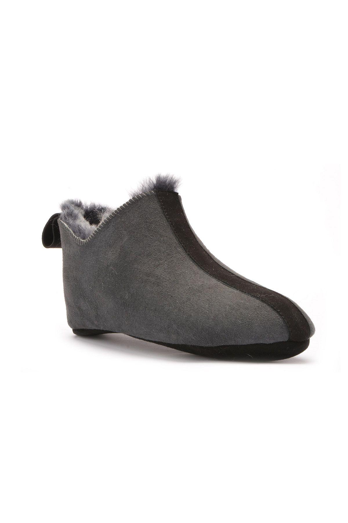 Pegia Мужская Домашняя Обувь Из Натурального Меха Серый