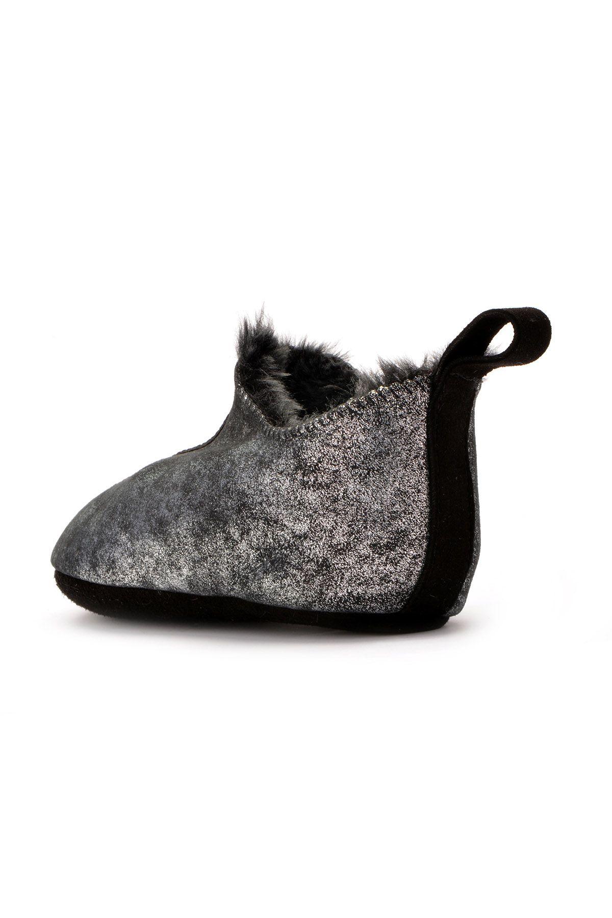 Pegia Детская Домашняя Обувь Из Натурального Меха Серебристый