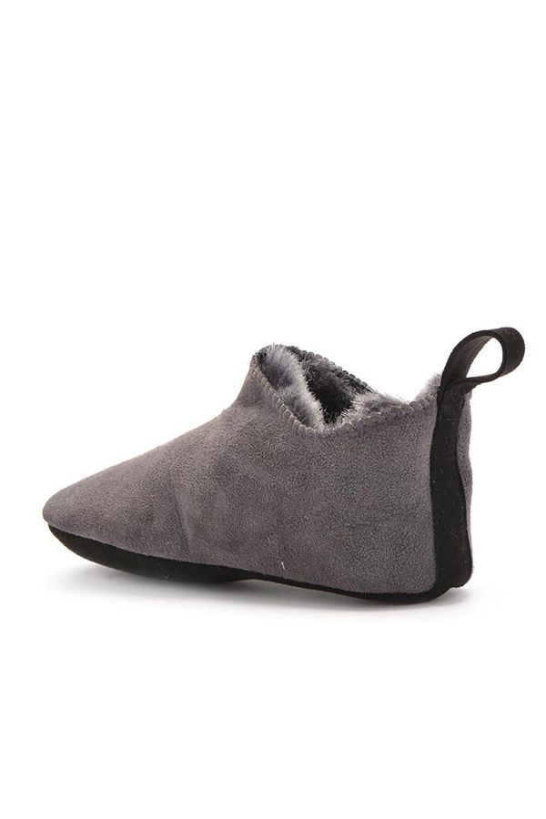 Pegia Kids House-Shoes From Genuine Fur Gray
