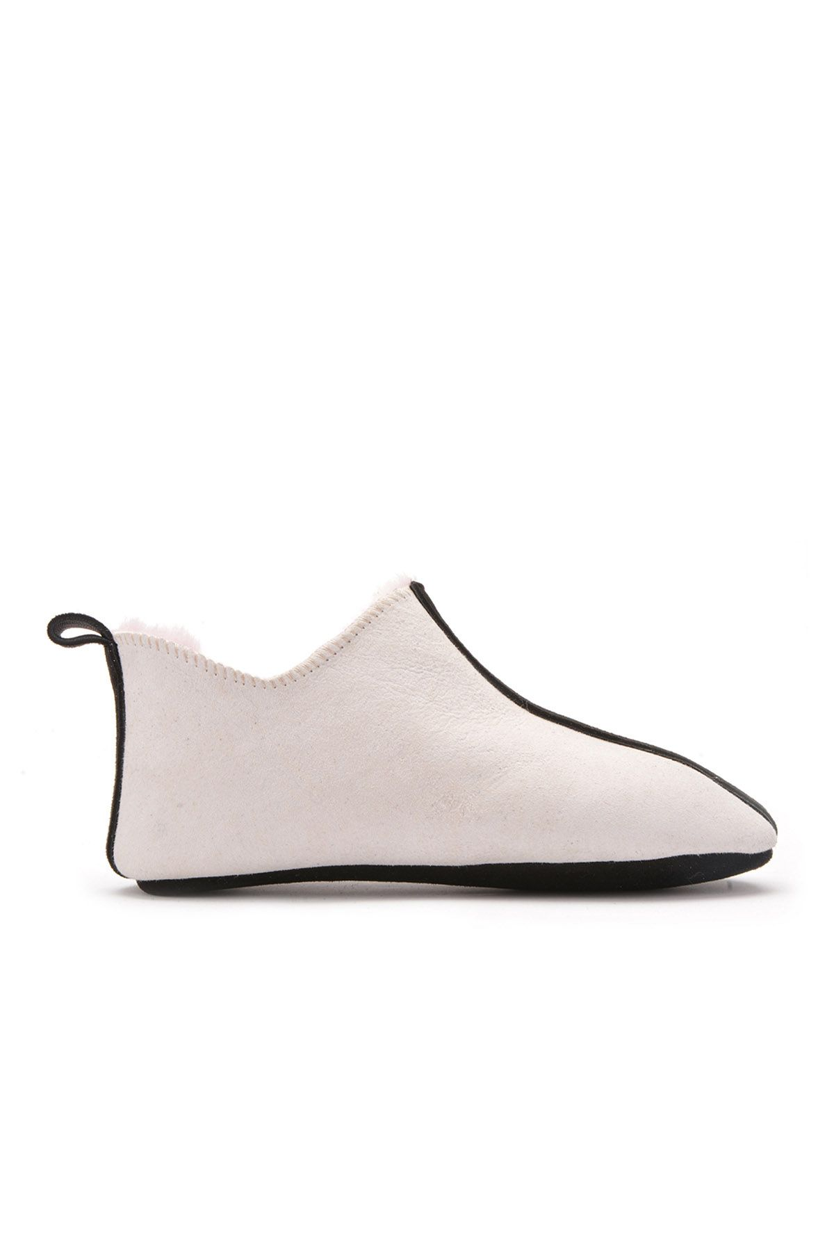 Pegia Kids House-Shoes From Genuine Fur Beige