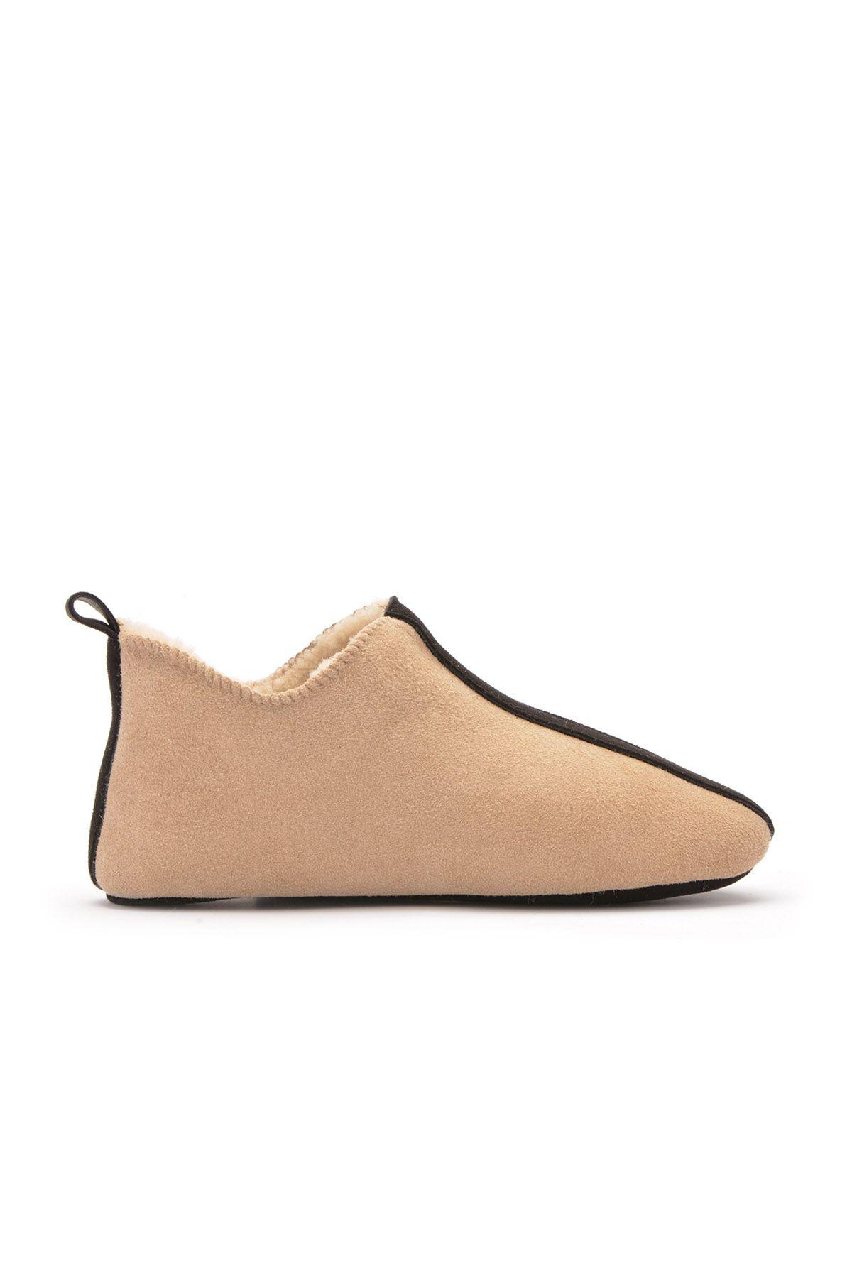 Pegia Детская Домашняя Обувь Из Натурального Меха Песочный