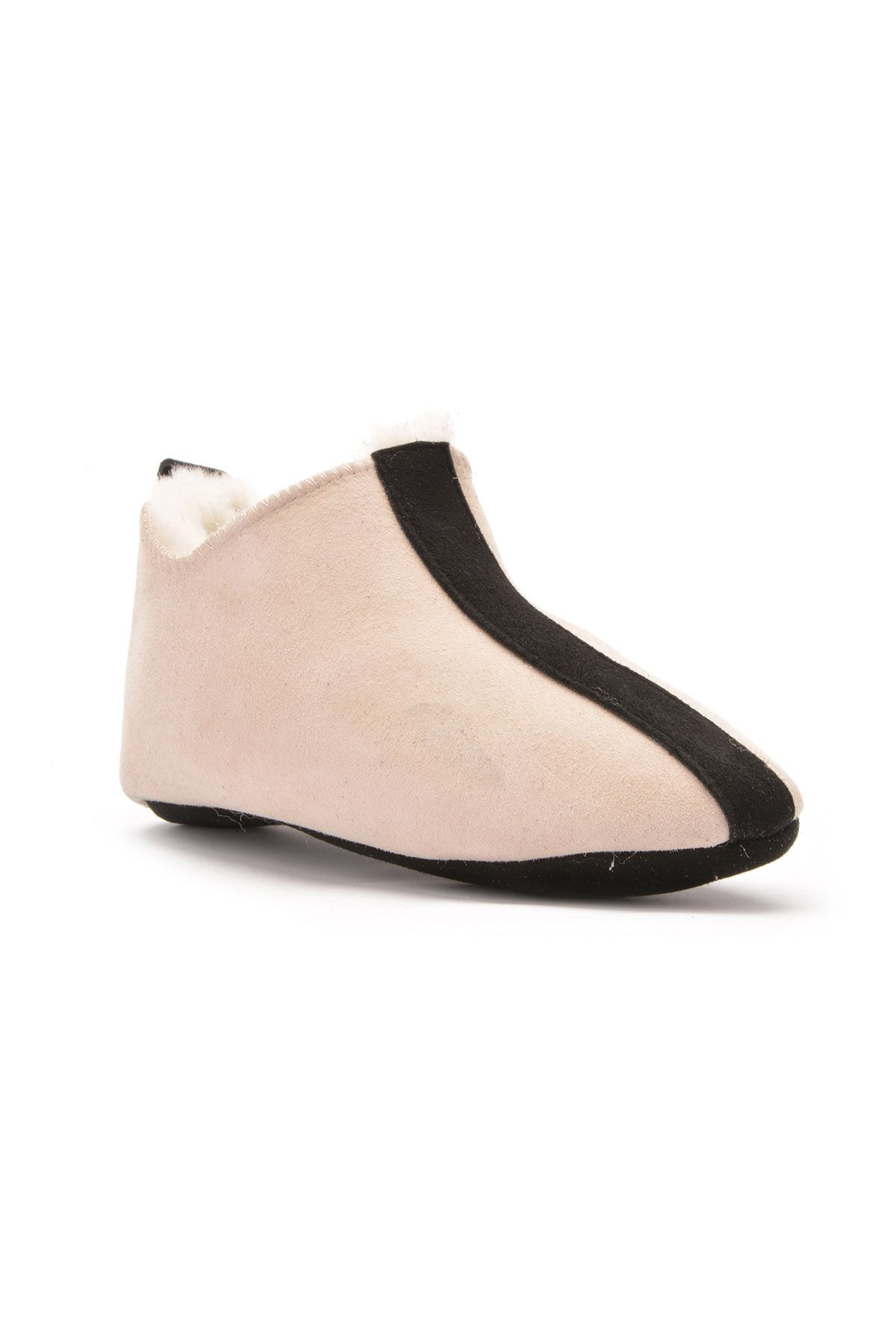 Pegia Kids House-Shoes From Genuine Fur Cream