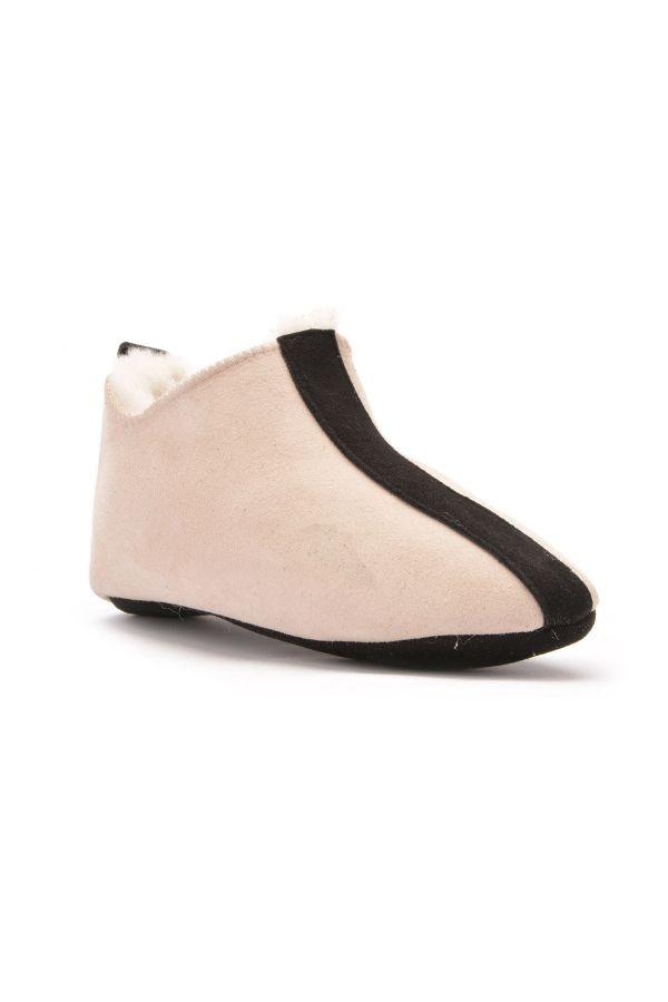 Pegia Детская Домашняя Обувь Из Натурального Меха Кремовый