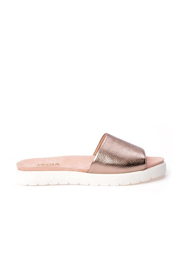 Pegia Drancy Women Slippers From Genuine Leather Bronze
