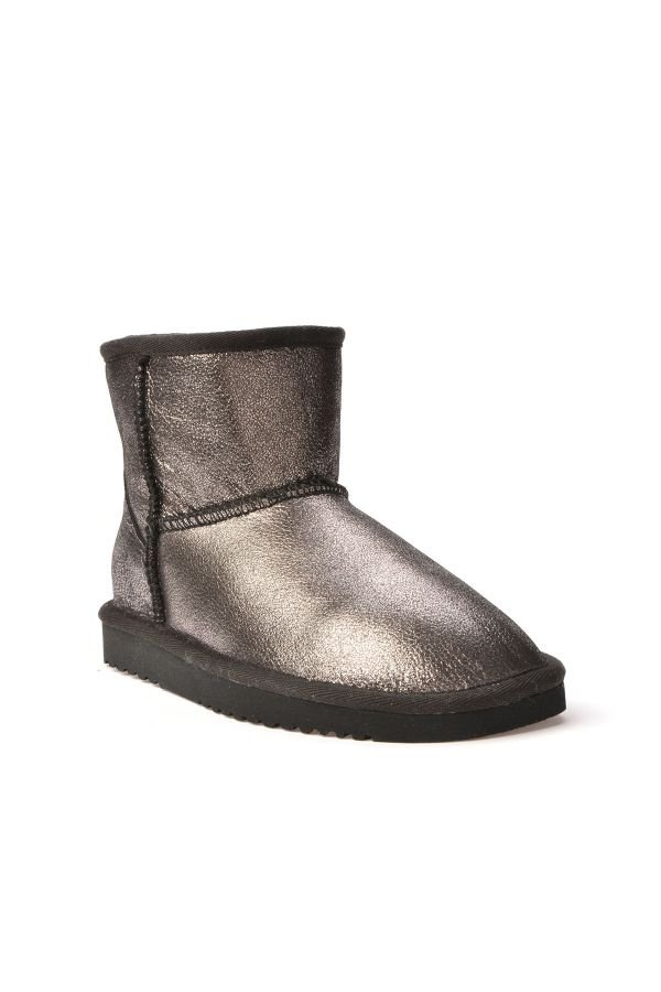 Cool Moon Women Uggs From Genuine Fur Black