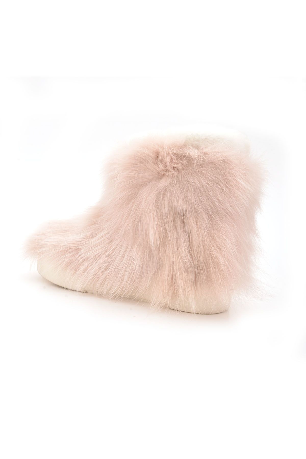 Pegia Women Boots From Genuine Toscana Fur Powdery