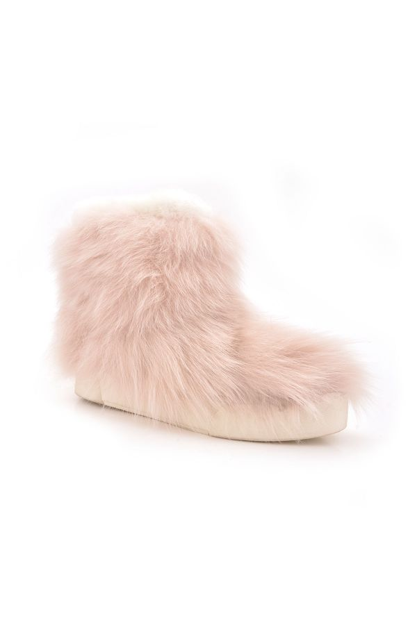 Pegia Women Boots From Genuine Toscana Fur Powdery