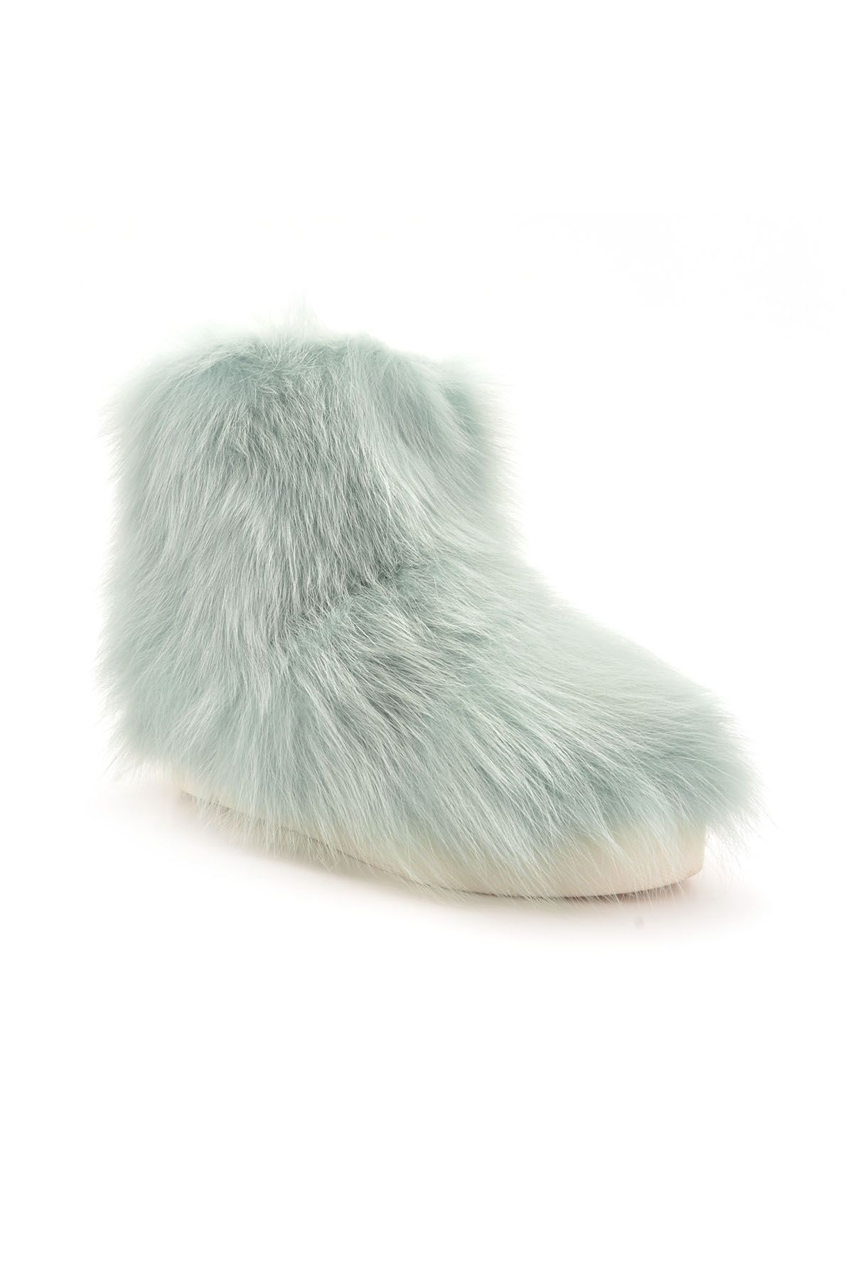 Pegia Women Boots From Genuine Toscana Fur Mint