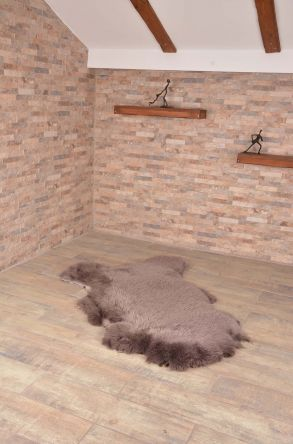 Erdogan Deri Decorative Sheepskin Rug Gray